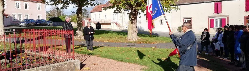 Cérémonie commémorative de l'armistice du 11 novembre à Haut-Bocage