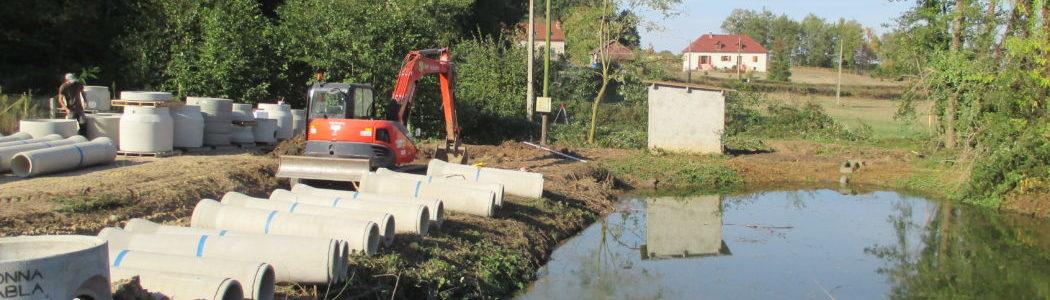 Travaux en cours à Louroux-Hodement : Projet Station Epuration