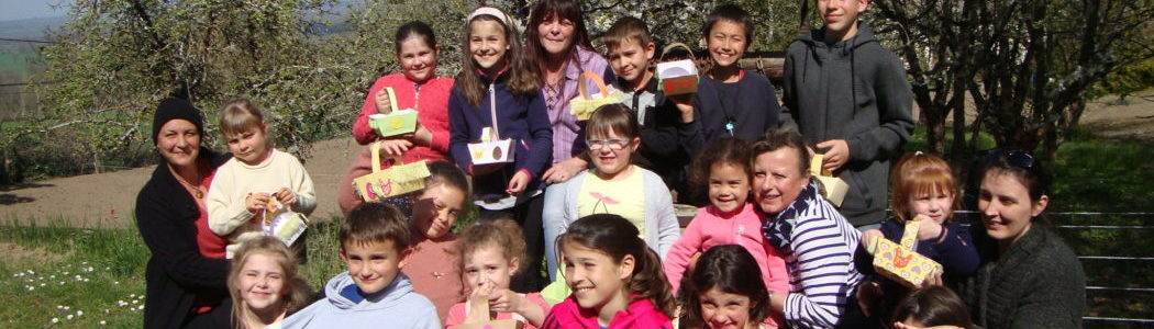 Activité de Pâques avec les enfants de Haut-Bocage