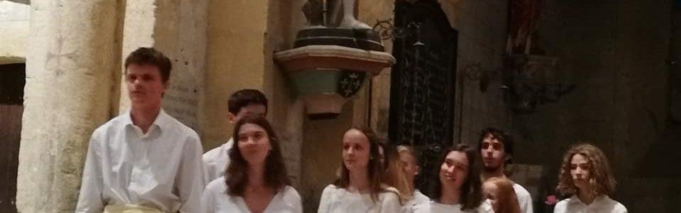 Concert de la chorale jeunes «O'Musica» du Vésinet en l'église de Maillet